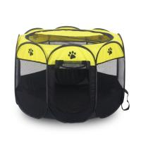 Cheap 8 Panels Yellow Foldable Puppy Dog Pet P for sale