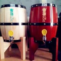 China mini wooden barrel with stainless steel beer keg inlay on sale