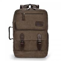 Cheap Canvas backpack for man big capacity large space outdoor man backpack satchel canvas schoolbag wholesale