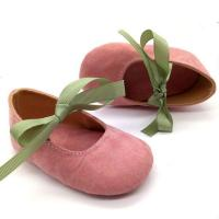 China vintage style cheap shoes for infant girl baby ballet booties for babies on sale