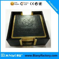 Cheap 5pcs metal coaster with holder wholesale