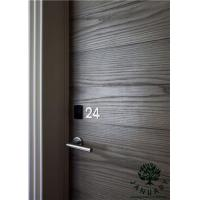 China Fire Rated Interior Door with Flat Oak wood Panel on sale