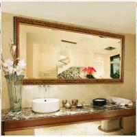 China Wall Mounted Vanity Mirror with Gold Decorative on sale