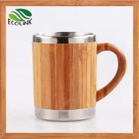 Cheap Insulated Bamboo Coffee Tea Mug With Stainless Steel Inner for sale