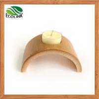 Cheap Nature Bamboo Candle Holder For Home Decoration for sale