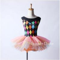 Costume Collection Product name:Colorful Print Ballet Tutu Dress Women C207
