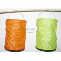 Cheap Spring Lampion Paper Lanterns Craft , Outdoor Hanging Paper Candle Lanterns 10 X 15 Cm for sale