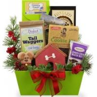 Christmas Goodies for Dog and Owner Gift Basket