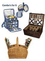 Cheap Picnic Baskets for 6+ for sale