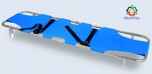 Quality Stainless Steel Folding Stretcher with Two Wheels wholesale