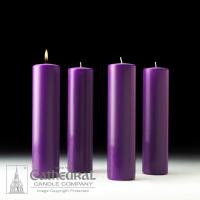 China Church Advent Pillar Candles | 3 x 12 | 4 Purple on sale