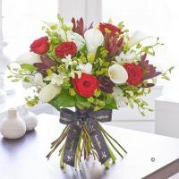 China Luxury Red Rose and White Calla Lily Hand tied on sale