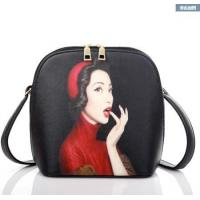 THBFB094 cheap fashion lady bag with custom printing simple style PU should bag