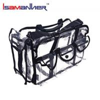 Buy cheap School Bags Large capacity pvc clear vinyl cosmetic bag with shoulder strap from wholesalers
