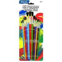 Buy cheap Arts & Crafts BAZIC Asst. Size Paint Brush Set (12/Pack) $ 3.99 from wholesalers