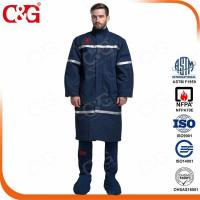 Cheap 40 cal Power Industry Arc Flash Long Coats And Face Shield and Bib Overall for sale