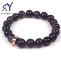 Cheap Alibaba Rose Gold Color Beads and Rose Quartz Stone Gems Jewelry Lava Stone Bracelet for sale