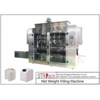 Cheap Pesticide Liquid Weighing Filling Machine10-16 B / MIN To Fill 5 - 25L Drums And Jerrycans for sale