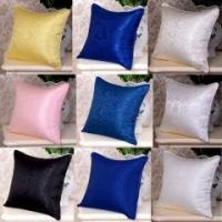 China 1pc 22MM 100% Silk Pillow Case Cushion Cover Zipper Closure Piping Around on sale