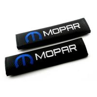 Cheap RhinoTuning 1 Pair Mopar Logo Seat Belt Shoulder Pads Covers Brands for sale