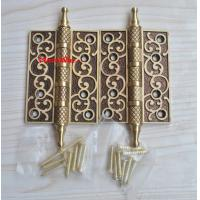 China 4 Inch Full Copper Wood Butt Brass Door Hinges on sale