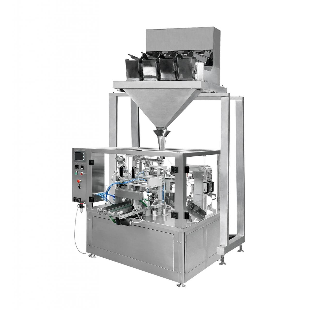 Cheap Automatic Rotary Pouch Filling Machine & Four Head/Six Head Weighing Machine (XFG) for sale