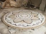 Cheap Stone Tiles & Slabs Polishing Round Stone Waterjet Medallions In Your Own Designs wholesale