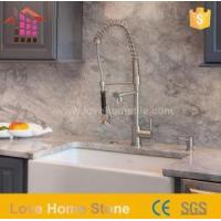 China Peticular 37 Cutting Cultured Marble Bathroom Vanity Countertops Double Sink on sale