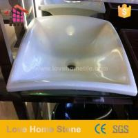 China Cream Bathroom Countertop Wash Basin And Cultured Marble Sink Designer on sale
