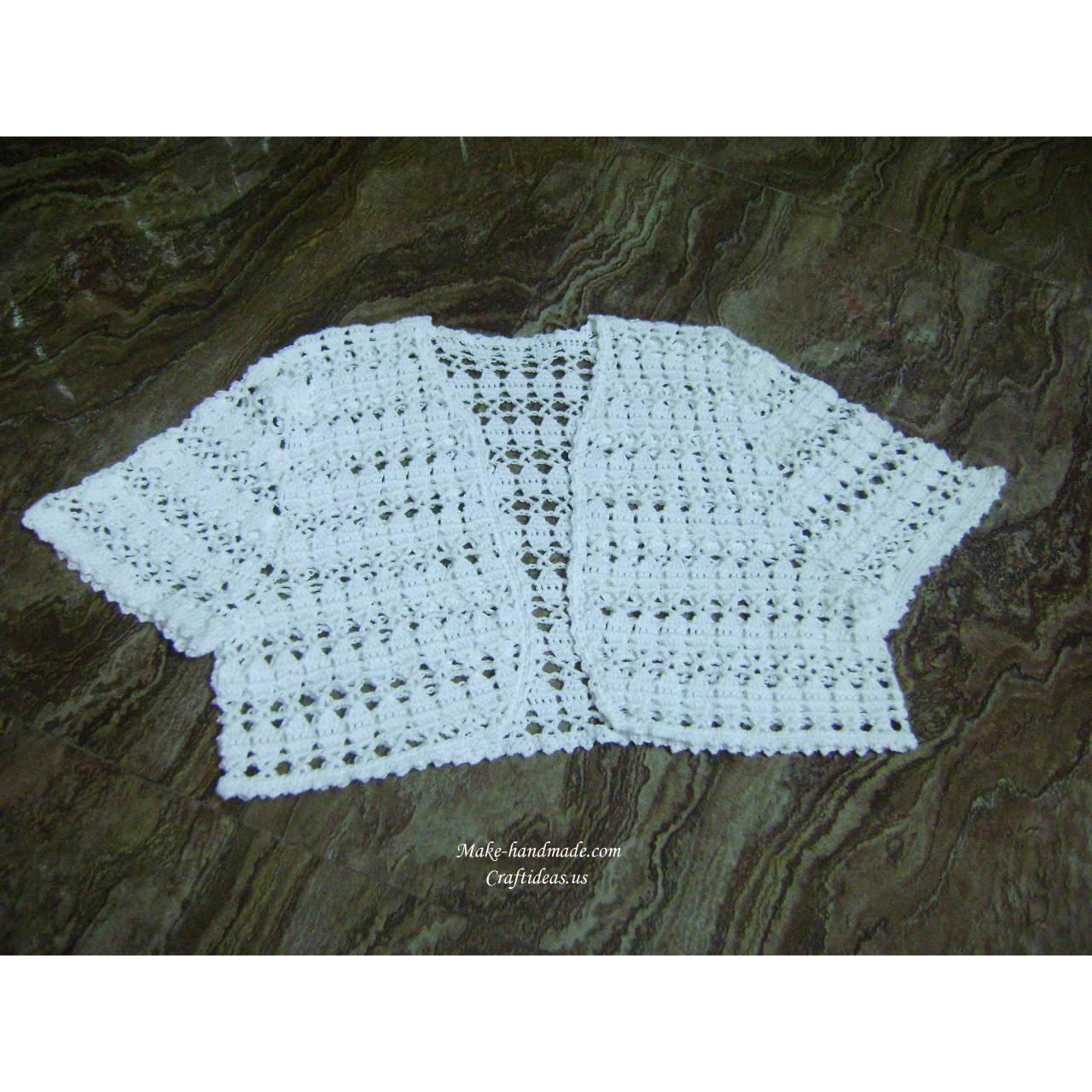 Cheap Handmade Crochet summer lace vest and jacket for sale