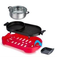 Buy cheap Die Cast Aluminum Electric Grill & Hot Pot With Non-stick Surface from wholesalers