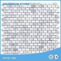 Cheap White Calacatta Marble Brick Mosaic Tiles for Bathroom/Shower Wall and Floor for sale