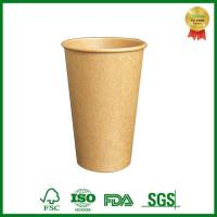 Cheap Food Grade Single Wall Brown Kraft Paper Coffee Cup With Lid for sale