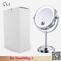 Cheap Preffesional 360 degree Rotation LED lighted 3X enlarge desktop makeup mirror for sale