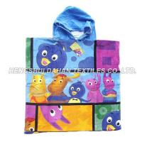 China 100%cotton printing poncho beach towel for kids BET09 on sale