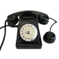 Cheap Culture French Black Bakelite Phone for sale