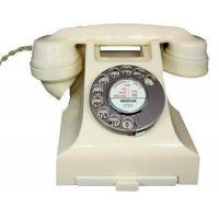 Cheap Culture 1950s Bakelite Telephone in Ivory for sale