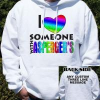 Love Someone With Asperger's Hooded Sweatshirt