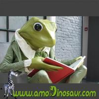 Cheap The desinger of cartoon mascots big size frogman with sit down pose for sale