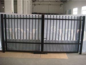 Xcel custom metal sliding driveway fence gates with for Aluminum driveway gates prices