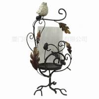 Cheap Metal Candle Holder With Glass Table Decoration for sale
