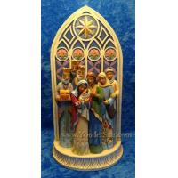 Cheap Nativity Scenes Heartwood Creek Holy Family Cathedral Nativity by Jim Shore for sale