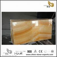 Cheap Honey Yellow Transparent ONYX Marble Stone Tile for Bathroom Decoration for sale