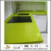 Cheap Different Types of Cheap Pure Green Quartz Stone Kitchen Countertops for sale