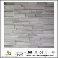 Cheap Cultured White Wooden Marble for Kitchen Countertops & Bathroom Vanity Tops for sale