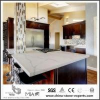 Cheap Beautiful Calacatta White Quartz Kitchen Worktops with Low Cost for sale