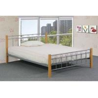China High performance Black & Silver Queen size Modern Metal Platform Beds on sale