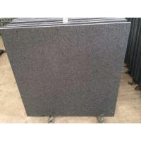 Cheap Imported Natural Stone Indian Absolute Black Granite, Flamed Floor Tiles For Outdoor Granite Paver wholesale