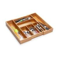 Cheap Expandable Bamboo Kitchen Cutlery Drawer Organiser for sale