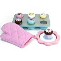 Cheap Melissa & Doug Bake and Decorate Wooden Cupcake Play Food Set wholesale